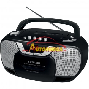 Rádio - SENCOR SPT 207 - AM/FM s CD/Kazeta