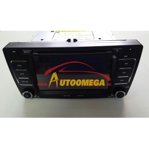 "Autorádio - ŠKODA 7"", CD, DVD, USB, SD, BT, NAVI, CAN-BUS, ZELENÉ - Navi-MAN S802"
